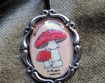Mushroom Necklace - Natural History Illustrated Jewelry