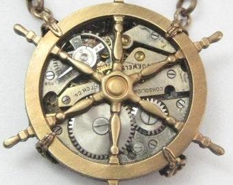 Maritime Steampunk necklace, steampunk maritime, maritime necklace, maritime, nautical steampunk, steampunk maritime creation,