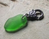 Pretty Please - Sea Glass Jewelry - Pendant, Purse Pull, Zipper Pull OR Whatever You Want It To Be