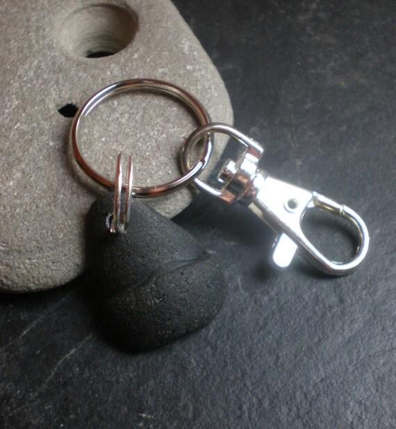 SALE - Guinness -  Sea Glass Key Fob