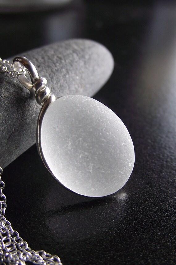 Sea Glass Jewelry - Bridal Necklace - I DO