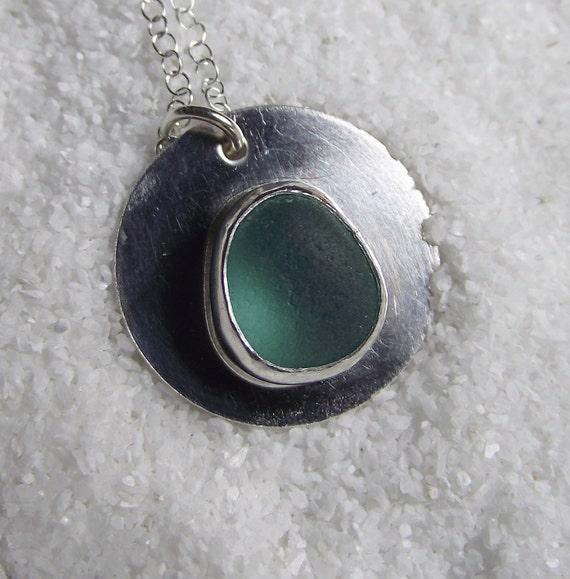 Sea Glass - Genuine Aqua Blue Seaglass Jewelry - THE DEEP