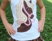 Horse Applique Tshirt SewSoNancy Boutique