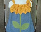 Sunflower Dress Pillowcase Dress Size 12/18mo SewSoNancy Boutique