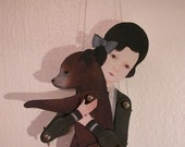 delicate heart - jointed paper doll set\/print with 11 pewter brads