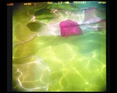 SALE Swimming Lomography Diana Photo mounted ready to frame
