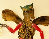 Horse Headed Papageno Constructed Articulated Paper Doll / Hinged Beasts Series