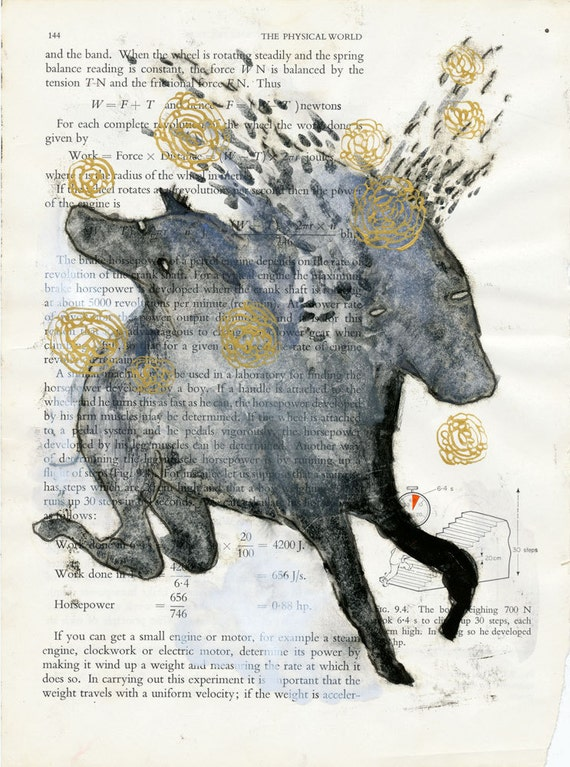 Two Headed Horse Monoprint
