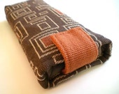 Square Geometrics Brown and Orange Sunglasses Case