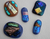 Dichroic Glass Cabochons (5)
