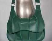 Tea Leaf - Fig Series Recycled Leather Messenger Bag