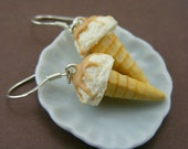 Vanilla - Caramel Ice Cream Earrings