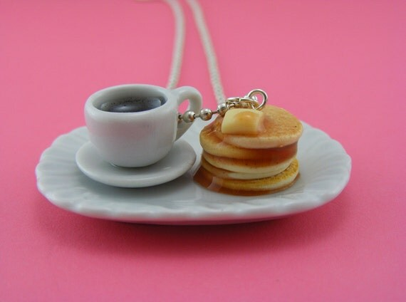 Coffee and Pancakes Necklace