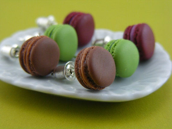 Choose Your Favorite Macaron - Studs / Post Earrings