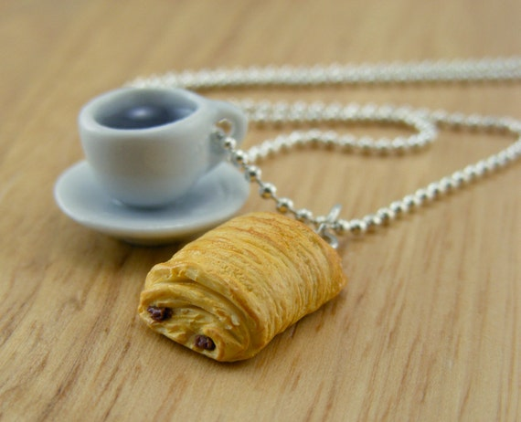 Coffee and Pastry Necklace