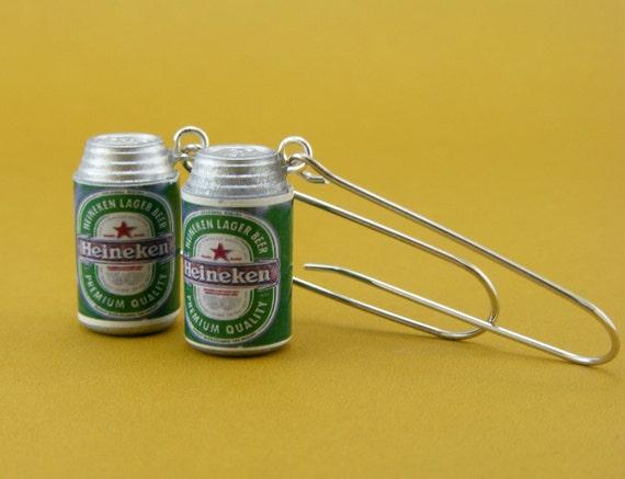 Heineken Beer Earrings