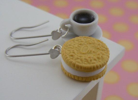 Coffee and Cookie Earrings