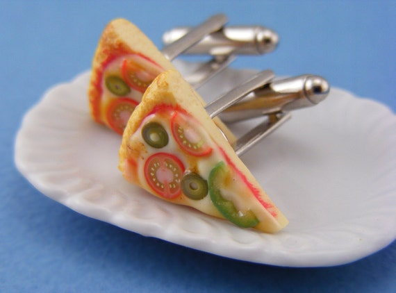 Veggies Pizza Cufflinks