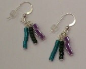 Purple and Teal Sensation Companion Earrings