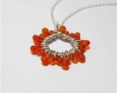 Carnealian starburst necklace