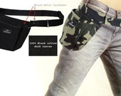 Double Cargobelt / Tool Belt-bag-pouch / Wallet-cell phone-PDA-Ipod case holster / Travel hands free Fannypack / Apron (blk-blk)