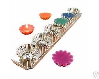 Tart Mold - 6 Tarts on a metal base, Candles, Molds, Floating