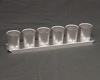 6 UP Votive Metal Mold Candles Molds New