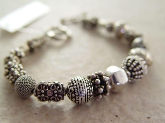 Bali Silver Bead Soup Bracelet