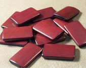 Large Mahogany Bamboo Tiles Set of 60 - for brickedfrog only