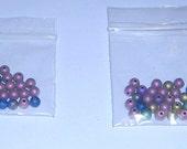 Druk beads 4MM assorted colors matte (33) Czech