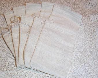 Soap Making Muslin Drawstring Bags 5 x 7 (25)