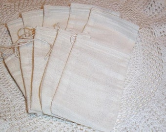 Soap Making Muslin Drawstring Bags 4 x 6 (25) storage bag soap bag