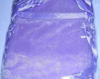 ORGANZA Drawstring Bags-20 pcs 3 x 4 inches LILAC
