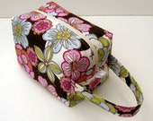 HOLIDAY SALE - Flowers Zipper Box Knitting Project Bag