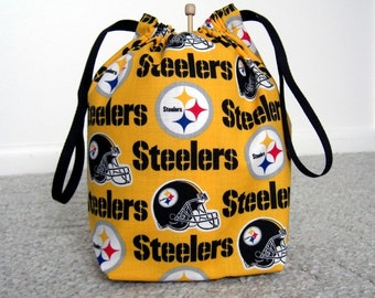 MOVING SALE - Pittsburgh Steelers Drawstring Knitting Project Bag