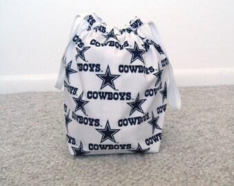 MOVING SALE - Dallas Cowboys Drawstring Knitting Project bag