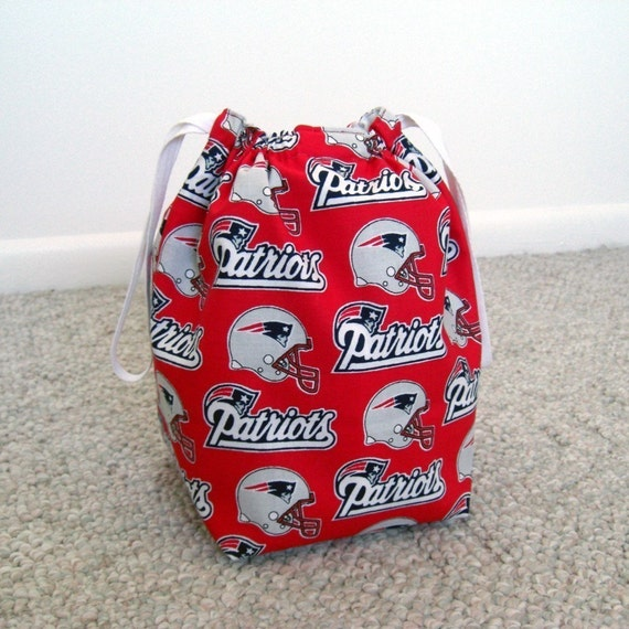 Knitting Project Bags For Sale : Sale new england patriots drawstring knitting project bag