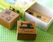 NEW - Matchbox Style Stamp Set - Sewing