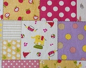 Cute animal and the pattern - Japanese fabric