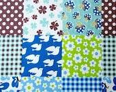 Half Yard - Cute bird, flower, and Mushroom - Japanese fabric
