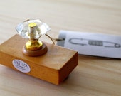 Antique crystal stamp - NUMBER PIN