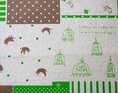 Pretty pattern and bird - Green