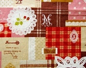 Colorful design and lase pattern - Japanese fabric - Red