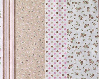 SALE - BIG SIZE - The pretty design - Japanese fabric - Brown