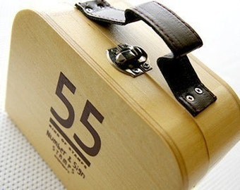 Wooden trunk boxed - Number and Sign Stamps