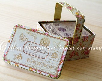 NEW - Basket can stamp set - Corsage