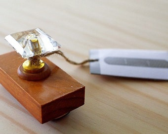 Antique crystal stamp - STICKING PLASTER