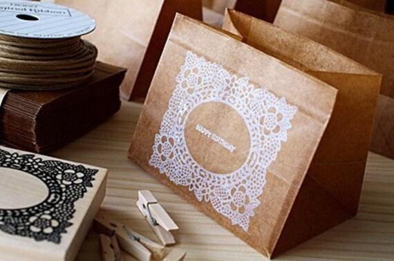 10pce - WAX PAPER BAG - Square bag type