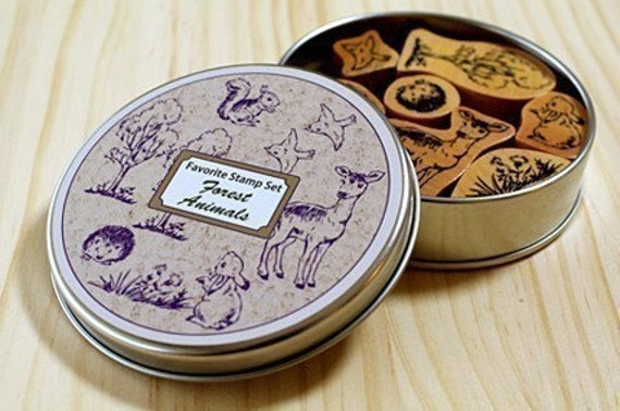 Forest animals in a can - Favorite stamp set