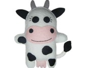 Hand Stitched Felt Cow Doll - Clarabell